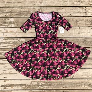 NWT LuLaRoe SUPER SOFT Berry Floral Print Nicole